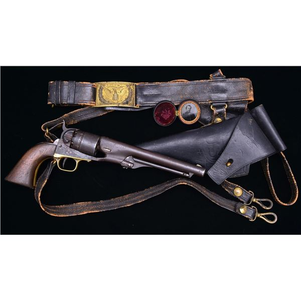 CIVIL WAR COLT MODEL 1860 ARMY REVOLVER WITH