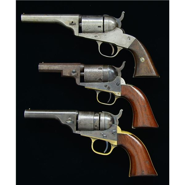 GROUP OF 3 CARTRIDGE CONVERSION REVOLVERS.