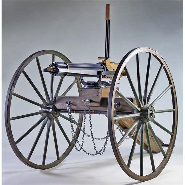 THUNDERVALLEY 1872 REPRODUCTION GATLING GUN.