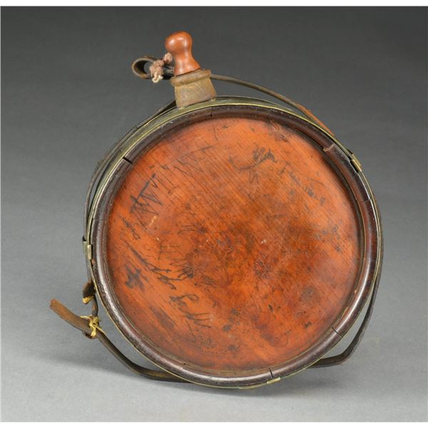 """CONFEDERATE WOOD CANTEEN CARVED """"MISSISSIPPI"""""""