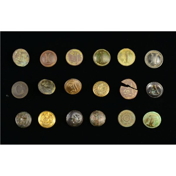EXCAVATED CONFEDERATE BUTTONS.