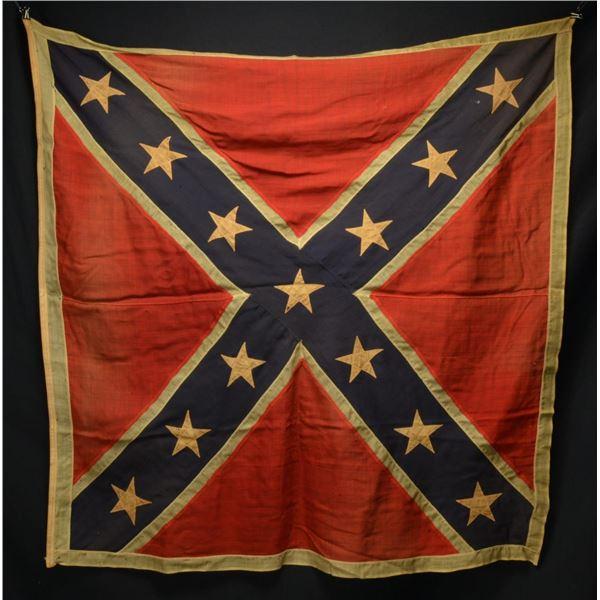 FINE EARLY REUNION ERA ANV STYLE BATTLE FLAG.