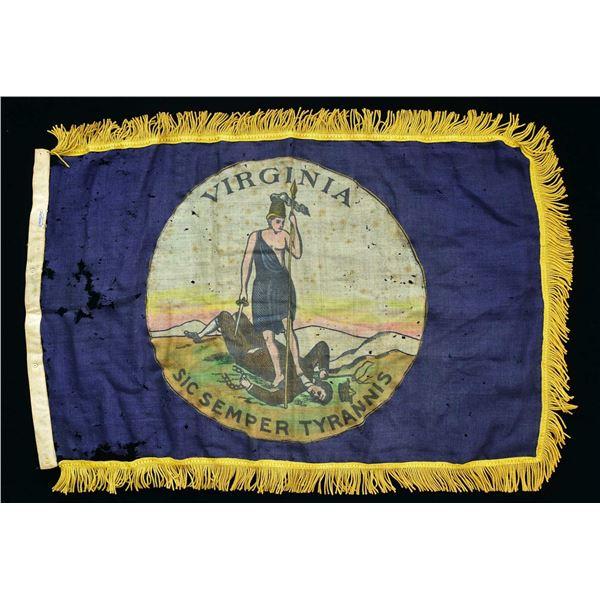REUNION ERA CONFEDERATE VIRGINIA STATE SEAL FLAG.