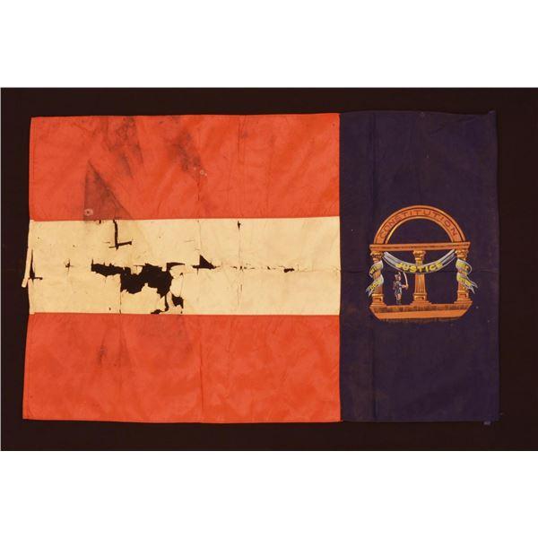 REUNION ERA SILK GEORGIA FLAG.