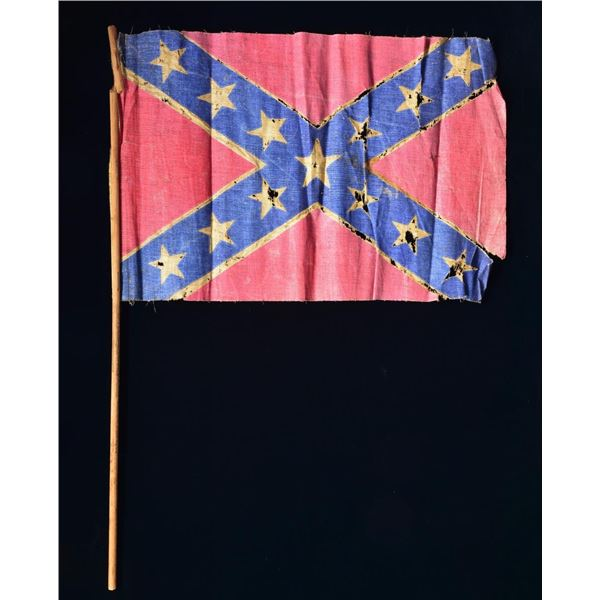 CONFEDERATE PARADE FLAG FROM UNVEILING OF WINNIE