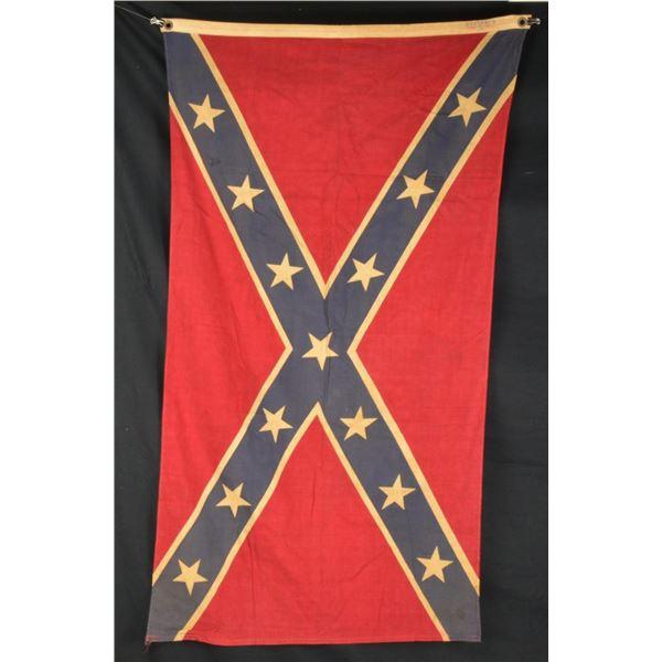 TWO CONFEDERATE REUNION ERA BATTLE FLAGS.
