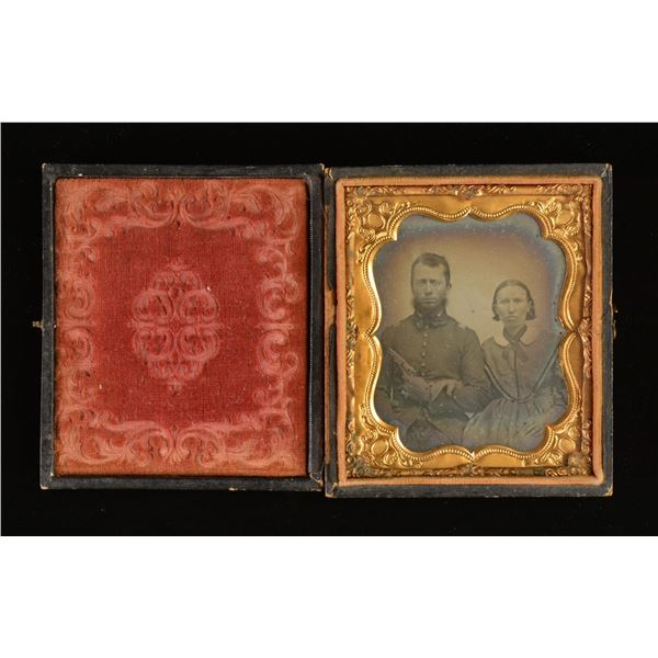 6TH PLATE AMBROTYPE OF VIRGINIA SOLDIER &