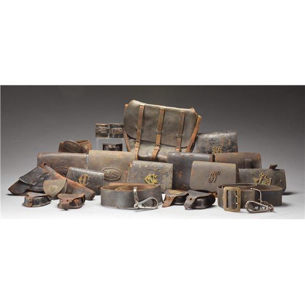 CIVIL WAR & INDIAN WAR CARTRIDGE BOXES, CAP BOXES