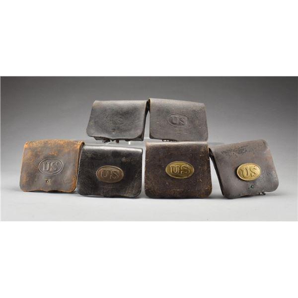 6 CIVIL WAR CARTRIDGE BOXES.