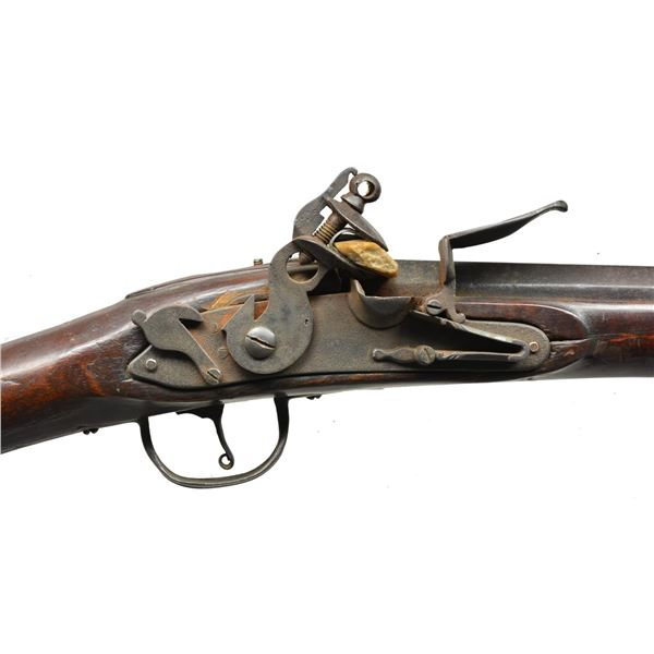EARLY AMERICAN DOG LOCK MILITIA MUSKET ENGRAVED