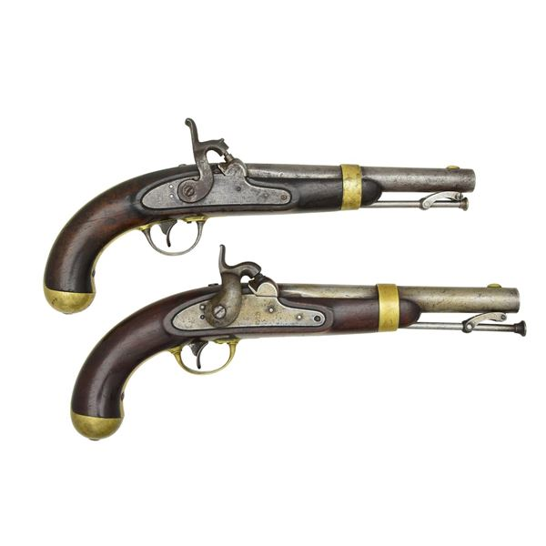 PAIR OF 1849 DATED H. ASTON CONTRACT MODEL 1842