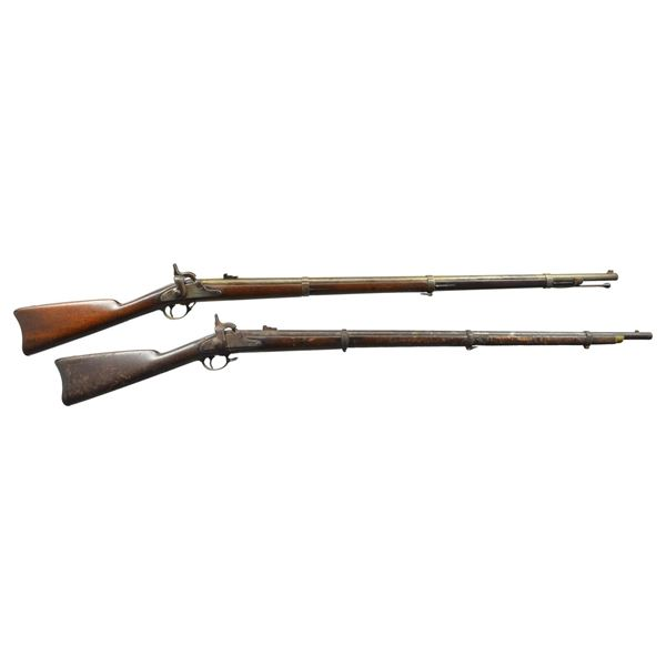 TWO CIVIL WAR RIFLE MUSKETS.