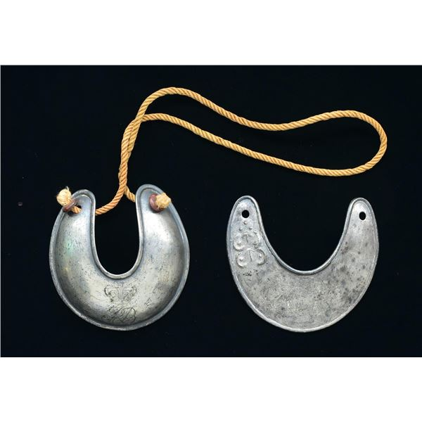 TWO BRITISH GEORGIAN-STYLE SILVER MILITARY