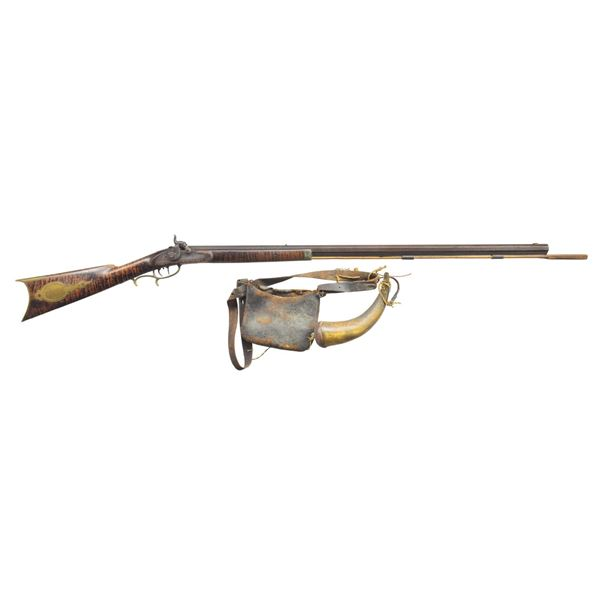 PITTSBURGH MADE HALF STOCK PERCUSSION RIFLE WITH