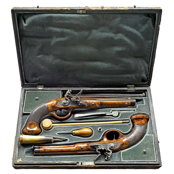 HIGH QUALITY CONDITION PAIR OF FLINTLOCK TARGET