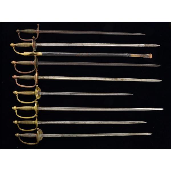 8 CIVIL WAR SMALL SWORDS.