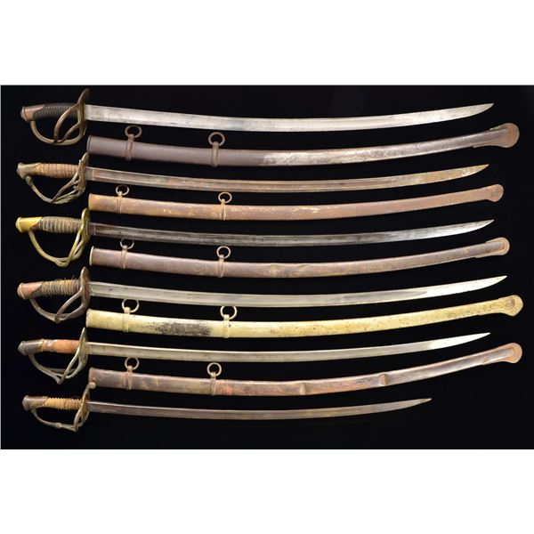ASSORTMENT OF 10 CIVIL WAR SWORDS.