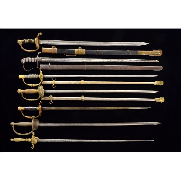 10 CIVIL WAR ERA SWORDS.