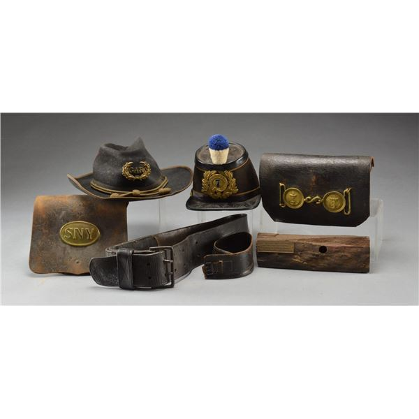 US & FOREIGN MILITARY HATS, BELTS, CARTRIDGE BOXES