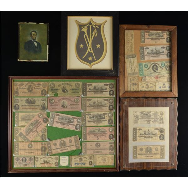 DECORATOR'S LOT OF OVER 30 FRAMES OF CIVIL WAR ERA