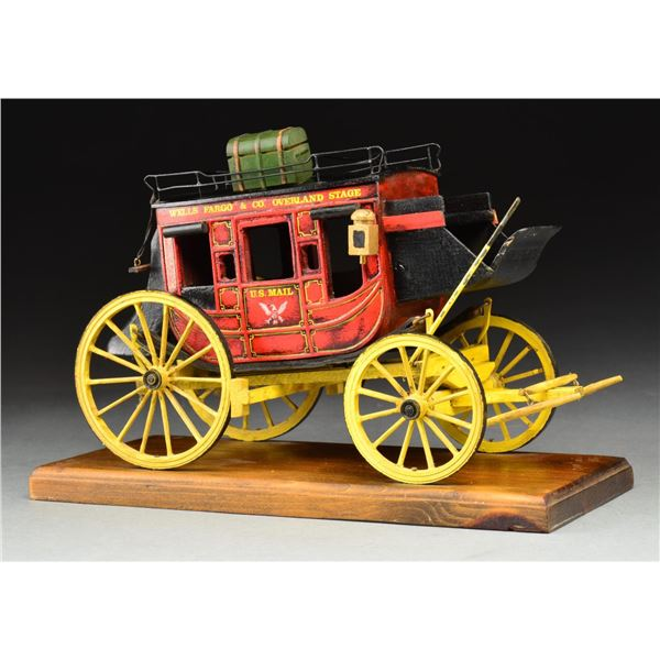 HANDMADE WOODEN WELLS FARGO & CO. OVERLAND