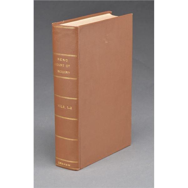 "LARGE BOOK ""RENO COURT OF INQUIRY VOL. 1 & 2"""