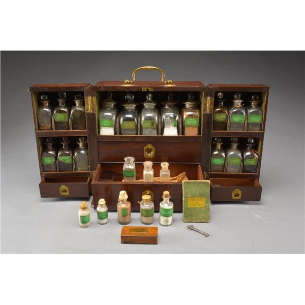 EARLY 19TH CENTURY APOTHECARY CHEST.