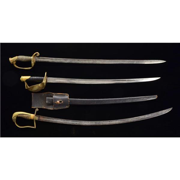 3 US, MARINE & NAVY SWORDS.