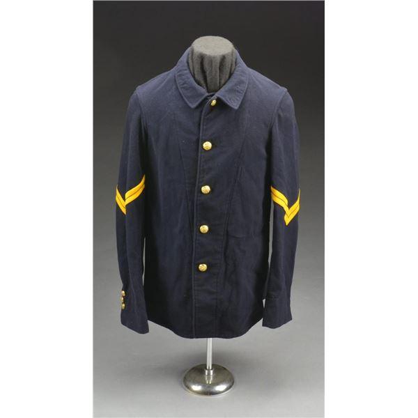 POST CIVIL WAR US UNIFORM COATS, PANTS & A CAPE.