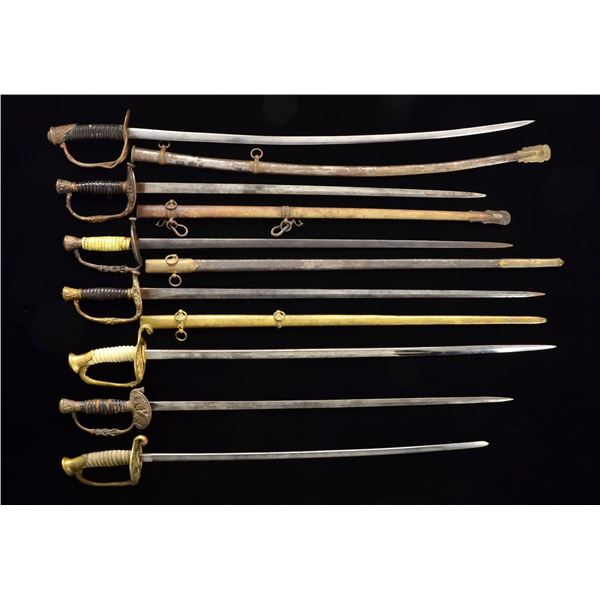 19 POST CIVIL WAR AMERICAN SWORDS.