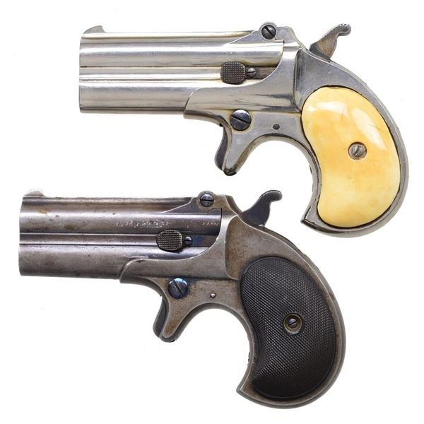 2 REMINGTON MODEL 95 DOUBLE DERRINGERS.