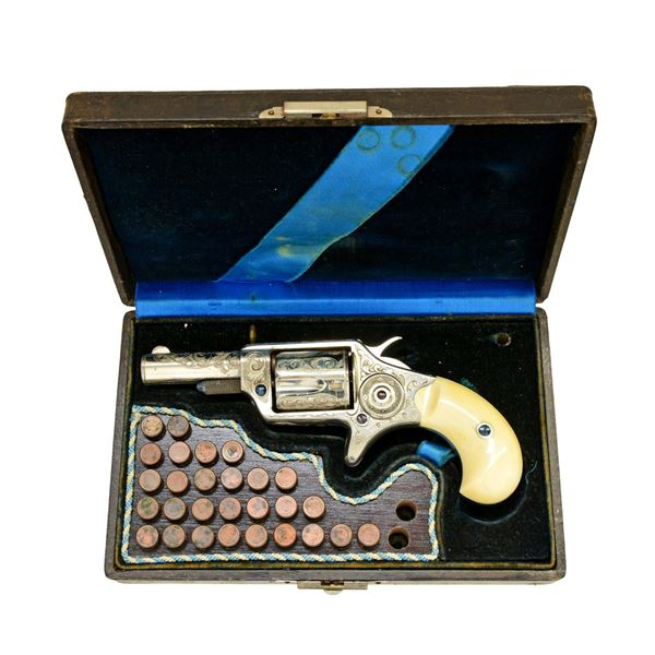 RARE EXPOSITION CASED ENGRAVED COLT 32 CALIBER NEW