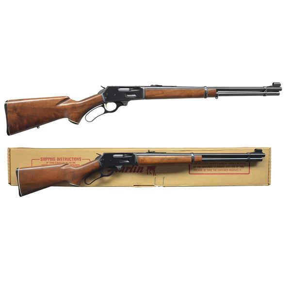 2 MARLIN MODEL 336 LEVER ACTION CARBINES.