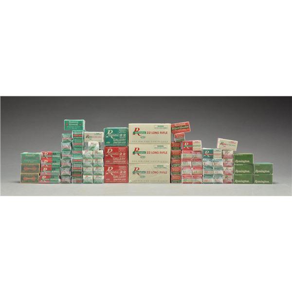 75+ BOXES OF VINTAGE REMINGTON 22 RIMFIRE AMMO