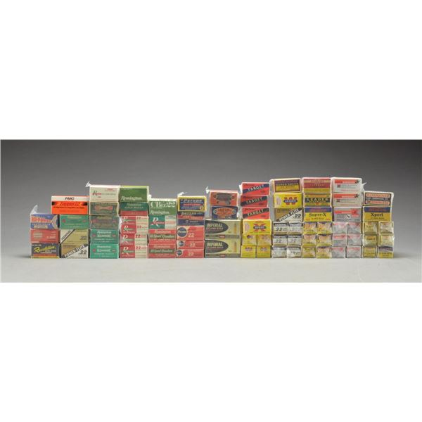 75+ BOXES OF VINTAGE & MODERN 22 RIMFIRE AMMO