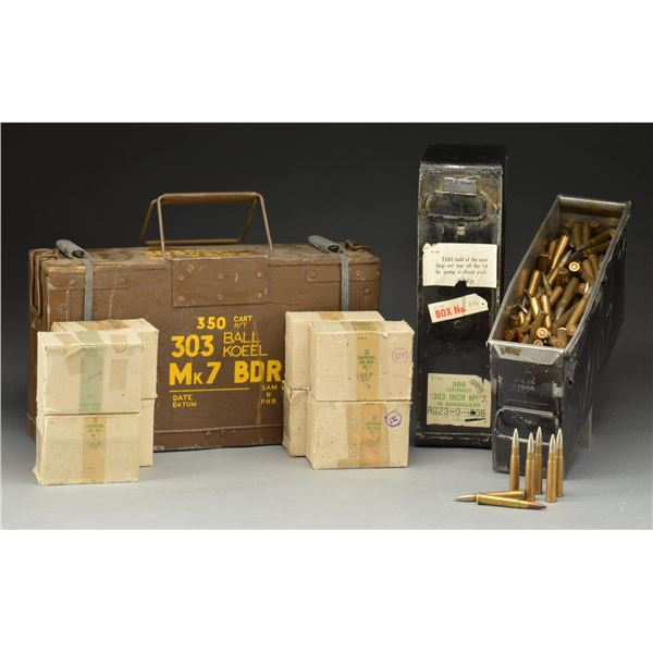 APPROX. 1300 RDS OF 303 BRITISH MILITARY BALL AMMO