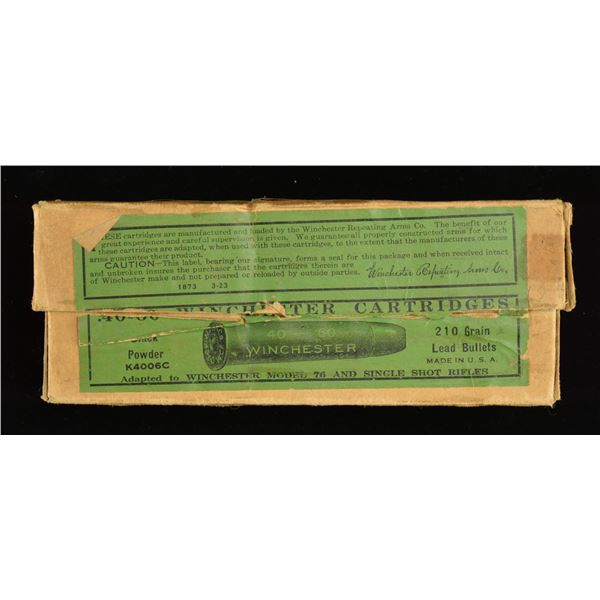 COLLECTIBLE 2 PIECE BOX OF ANTIQUE RIFLE AMMO. FOR