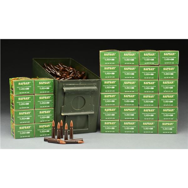 VERY LARGE GROUP OF 7.62 x 39 RIFLE AMMUNITION.