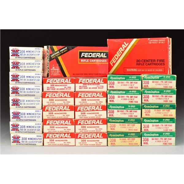 GROUP OF 308 WINCHESTER SPORTING RIFLE AMMUNITION.