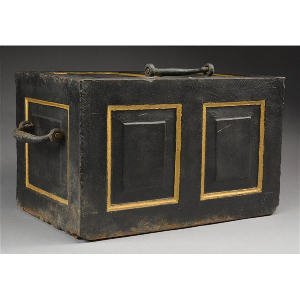 OLD WEST STEEL STRONG BOX.