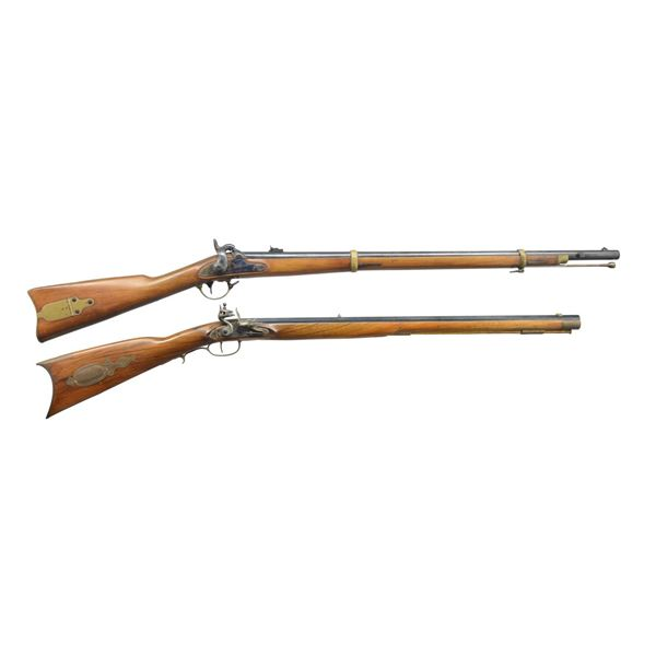 NAVY ARMS ZOUAVE AND ITALIAN FLINTLOCK RIFLES.