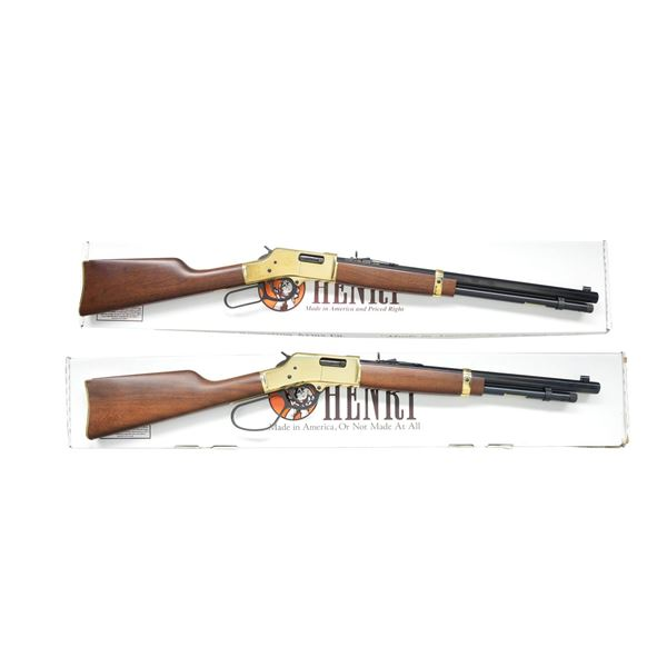 2 HENRY BIG BOY LEVER ACTION CARBINES.