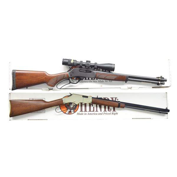 HENRY H010 & H004M LEVER ACTION RIFLES.