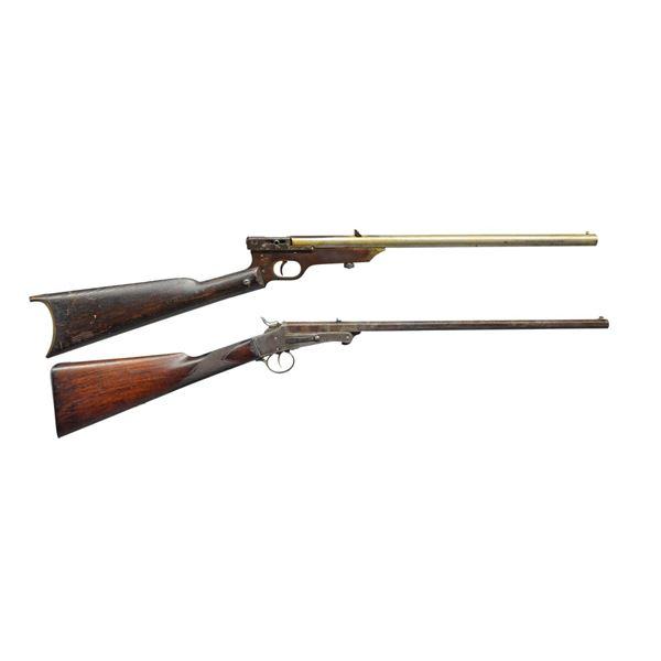 QUACKENBUSH W/ ARMY & NAVY SINGLE SHOT RIFLES.