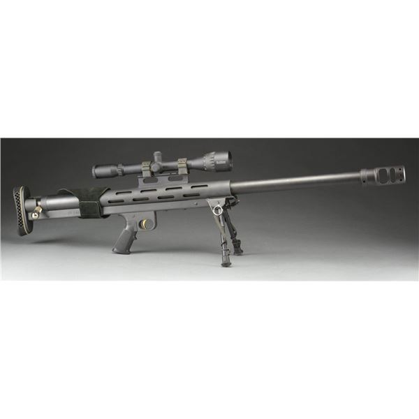HEAVY DUTY SINGLE SHOT 50 BMG BOLT ACTION RIFLE.