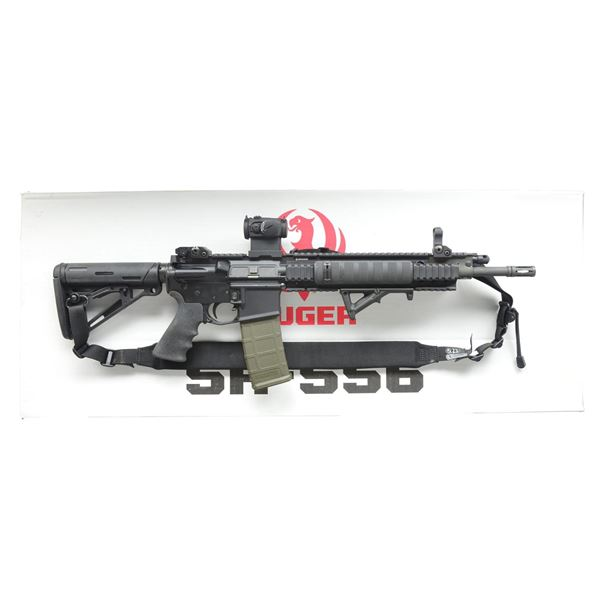 HEAVILY ACCESSORIZED RUGER SR556 RIFLE WITH
