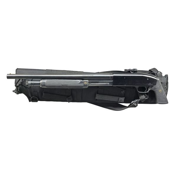 MOSSBERG 500A TACTICALLY EQUIPPED PUMP SHOTGUN.