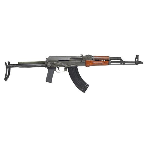 AK47 STYLE UNDER FOLDER WITH SLANTED MUZZLE BRAKE.