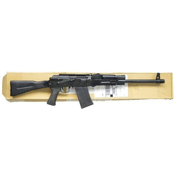 EXTREMELY DESIRABLE SIDE FOLDING SAIGA-12 SHOTGUN.