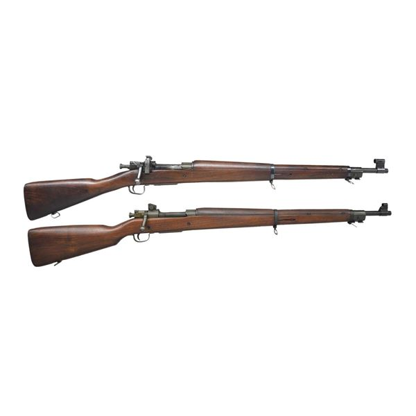 2 US WWII 1903 A3 BOLT ACTION RIFLES.